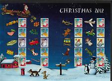 2012 GB Christmas Smiler Sheet MNH