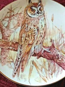 Bone China Decorative Plate Owl