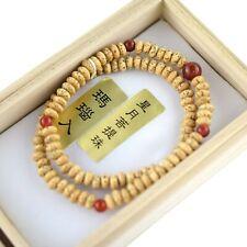 108 Bodhi wood Bead Red Agate Bracelet Japanese Juzu Handmade Gift for Unisex
