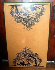 "1930's Vintage UGO MOCHI Silhouette Art 3 Pc 39""x25"" TABLE Top & 2 TABLE LEAVES"