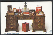 Royalty Postcard - The Queen's Dolls' House, The King's Library Table  C1144