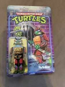 Super 7 Teenage Mutant Ninja Turtles Samurai Leonardo Reaction Figure Unpunched
