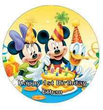 Mickey Mouse Birthday Personalised Cake Topper Edible Wafer Paper 7.5""