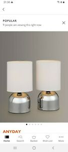 John lewis Modern Touch Table Lamps x 2