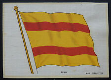 SPAIN FLAG 1914  B D V Cigarette Card Silk GIANT Size