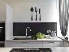 kitchen wall  stickers Cutlery fork spoon vinyl wall art decor decal DIY
