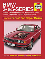 HAYNES MANUAL 1948 BMW 3 & 5 SERIES 81-91 *NEW SEALED* H1948