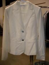 Calvin Klein Two Button Cream Suit Jacket Fully Lined Size 4 NWT