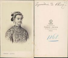 Jacotin, Paris, Impératrice de Chine CDV vintage albumen carte de visite.