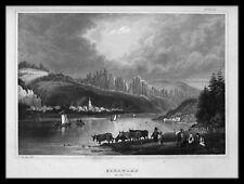 BAD SCHANDAU Elbe. Originaler Stahlstich 1845