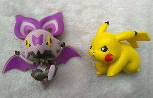 "Tomy Pokémon Official Battle Pack Figure Noibat & Pikachu 2"""