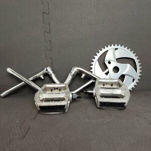 GT Bicycle Build Kit 1 Piece 175 mm Cranks, 43t Chainring w/ Pedals Vintage