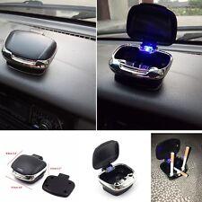 Truck Car SUV Dashboard Holder Cigarette Ashtray Blue LED New Black Universal