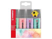 Stabilo BOSS Original Pastel Highlighter Assorted Colours , Wallet of 4