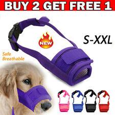 Adjustable Pet Dog Mask Muzzles Mouth Muzzle Grooming Anti Stop Bark Bite S-Xxl