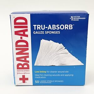 Band Aid Brand First Aid Products Tru-Absorb Gauze Sponges for Cleaning Wounds