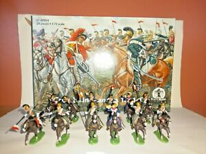 PAINTED SOLDIERS 1/72 20mm -FRENCH LANCERS - NAPOLEONIC WARS x 12 WATERLOO 1815