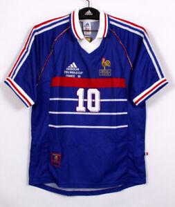 1998 World Cup FRANCE Home S/S No.10 ZIDANE 98-99 jersey Shirt trikot FFF