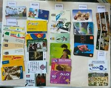 AFRICA Phonecards - 200 Cards from 22 Countries Tunisia Brunei Ivory Coast Gabon