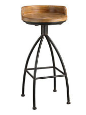 Arteriors Hinkley Style Soho Bar Stool Industrial Restoration Rustic Iron & Wood