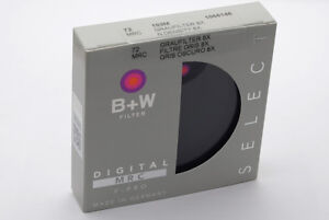 B&W 72mm, F-PRO 103 Graufilter ND 0,9 (8x +3 Blenden) MRC # 1066146