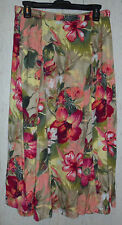 EXCELLENT WOMENS KORET PETITE PRETTY FLORAL PRINT FULL SKIRT  SIZE 12P