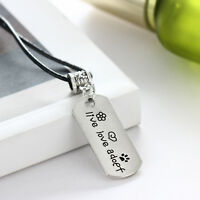Mom Daddy Sister Grandma Necklace Pendant Jewelry Heart Charm Pet Dog Paw Gift