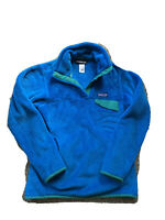 Patagonia Womens XS Fleece Polyester Snap Blue Green Pullover Jacket