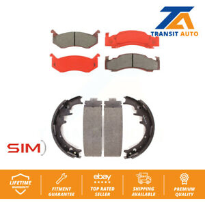 Front Rear Semi-Matllic Brake Pad Drum Shoes For Dodge D150 W150 B250 Ramcharger