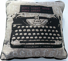 """Cushion Typewriter Design Including Pad Soft Cosy Office Sofa Pillow 16"""" x 16"""""""