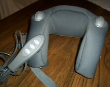 Brookstone Neck Massager W/ Remote Heat & Southing Sounds of Nature