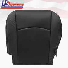2009-2012 Dodge Ram Laramie Driver Bottom Perforated Leather Seat Cover BLACK