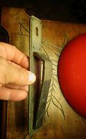 Ancienne Poignée de Porte rustique Design Art Déco de Meuble en Bronze