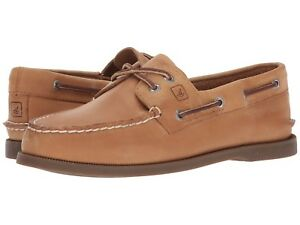 NEW Mens SPERRY TOP-SIDER Sahara Brown LEATHER Authentic Original Boat Shoes