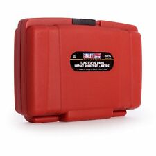 """Sealey Air Impact Wrench Socket Set 13 Pc 1/2"""" Sq Drive Metric 10-24mm With Case"""