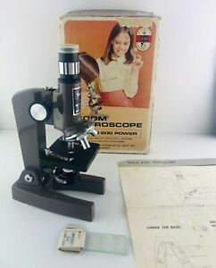 Vintage Sears Zoom Microscope 100 to 600 Power 4924034 Made in Japan