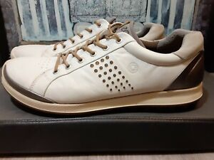 Ecco Natural Motion Hydromax Yak Leather Mens White Size EU 47 US 13 Golf Shoes