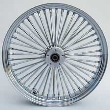 Chrome 48 King Spoke 23 x 3.5 Front Dual Disc Wheel for Harley and Custom Models