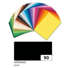 Tonpapier 10er Pack 130 g/qm, 50x70 cm, Schwarz