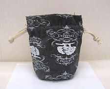Origins Charcoal Patterned Drawcord Make Up /Toiletries Bag