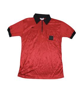 NOS Vintage 90s Mens Size XL Short Sleeve Referee Uniform Soccer Jersey Red USA