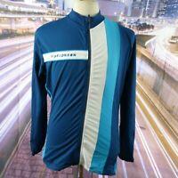 Ride London full zip blue Cycling Jacket Jersey. UK men's size XL