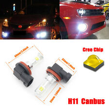 2X H11 Canbus Fog light 12V-24V 80W Cree LED DRL Lamp Driving Bulb Xenon White