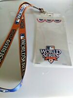 Texas Rangers San Francisco Giants 2010 World Series Lanyard (SGA) Ticket Holder