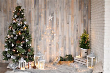 Us Stock 9X6Ft Rustic Wood Planks Wall Xmas Tree Vinyl Backdrop Photo Background