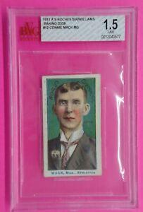 Connie Mack 1911 ROCHESTER BAKING Card #12 Graded 1.5 SUPER RARE!!