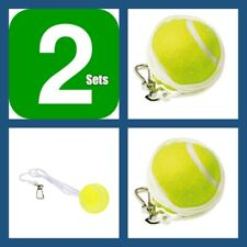 2 Sets Outdoor Sports Totem Tennis Spare Replacement Ball Nylon Cord Swivel Kit