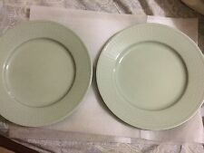 2 Rorstrand Swedish Grace design Louise Adelborg Dinner Plates in Celadon Green