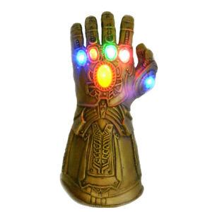 Thanos Gauntlet Gloves Avenge 3 Infinity War Endgame LED Cosplay Toys with Gift