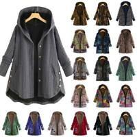 Damen Kapuze Warme Long Mantel Jacke Winterjacke Parka Hoodie Freizeit Outwear